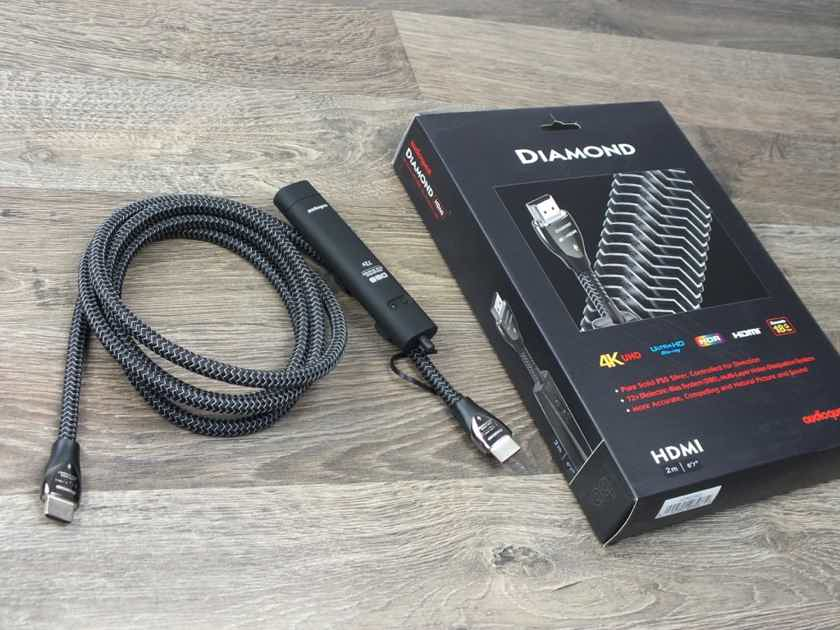 AudioQuest Diamond 4K High Speed Ultra HD HDMI cable 2,0 metre (2 available)