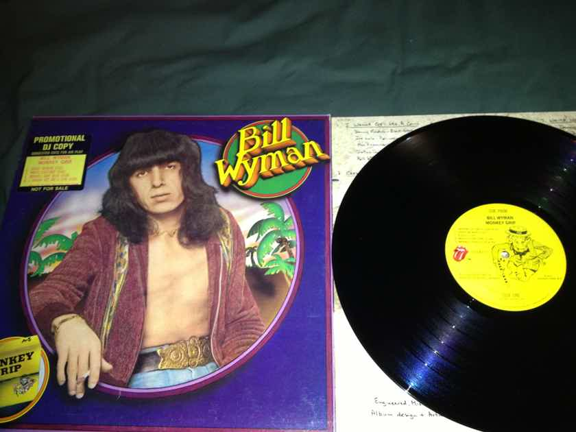 Bill Wyman - Monkey Grip Rolling Stones Records Promo With DJ Sticker Vinyl  LP NM