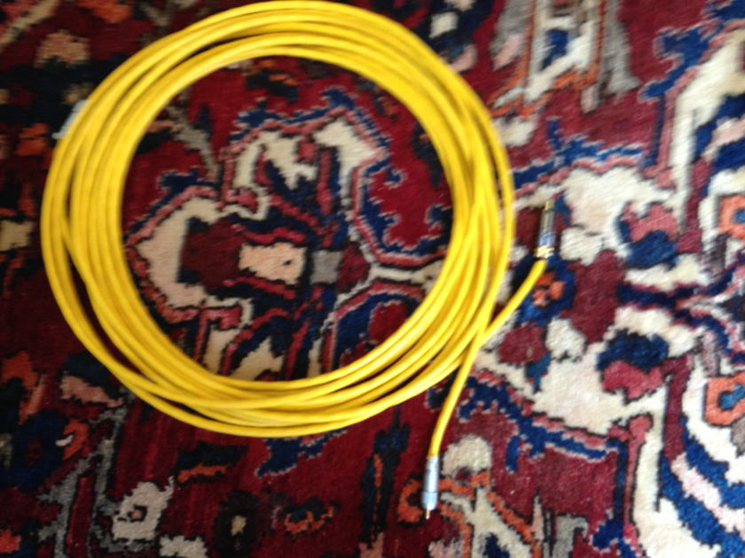 Krell Cogelco Yellow Interconnects