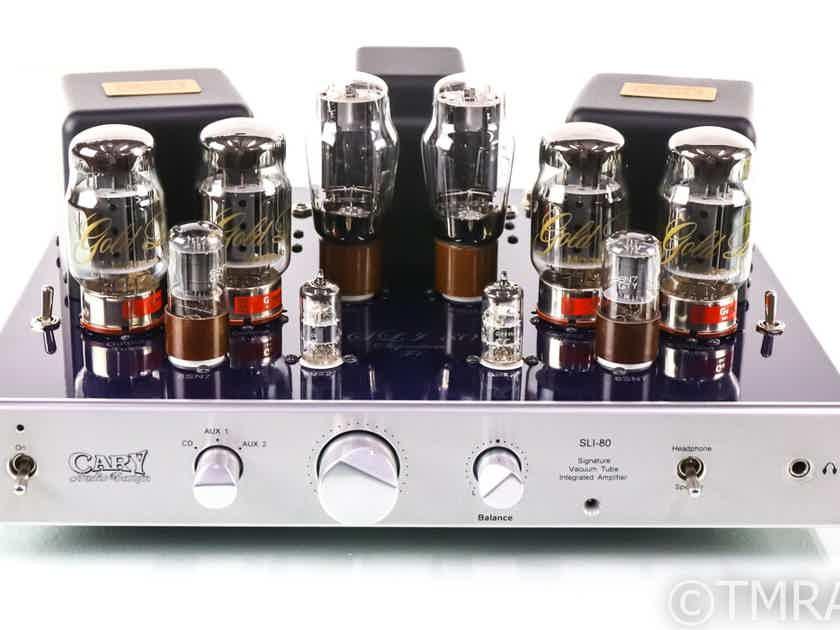 Cary Audio SLI-80 Signature F-1 Integrated Tube Amplifier; SLI80; Very Low Hours (29030)