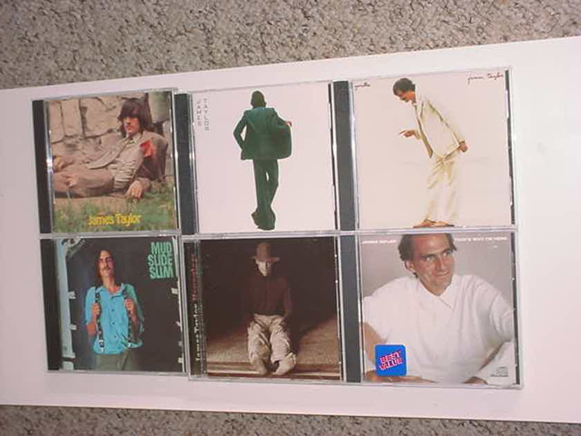 James Taylor cd lot of 6 - in the pocket mud slide slim hourglass gorilla thats why I'm here