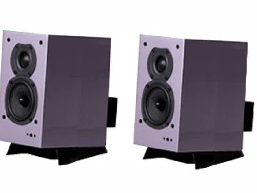 Quad 9L Active Bookshelf Speakers w/ USB input (Purple Lilac)