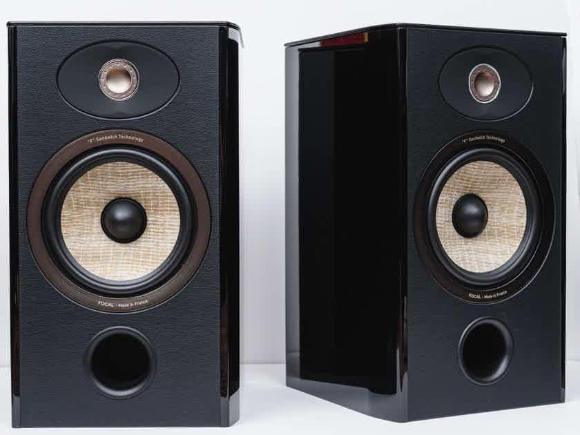 Focal Aria 906 Gloss Black Pair Bookshelf Speakers (NEW)