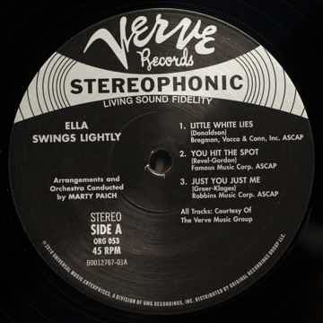 Ella Fitzgerald - Ella Swings Lightly ORG 053 45RPM 180GM