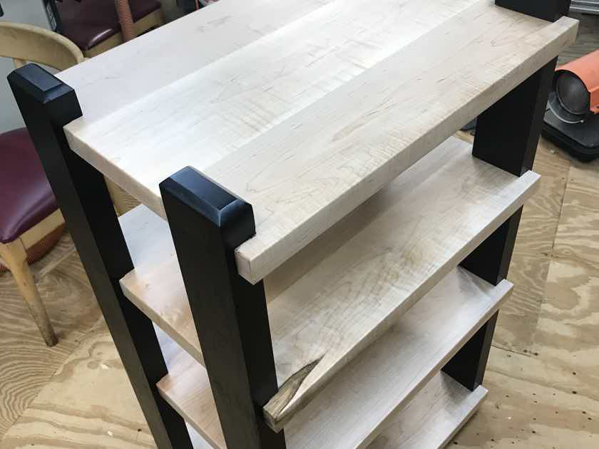 Custom Maple rack/stand Vertical 4 shelf rack
