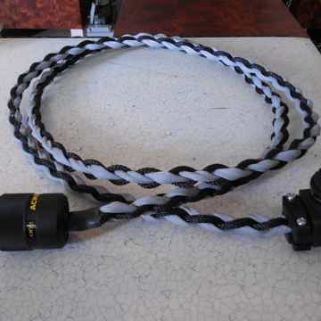 Black Shadow Angled Power Cords Matched Pair (2 Cords) ...