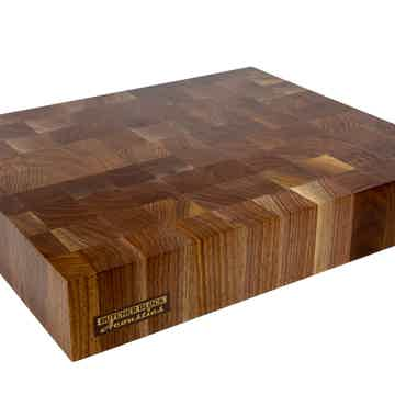 "19"" X 16"" X 3 Walnut End-Grain Audio Platform"