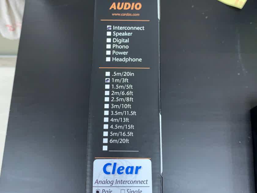 Cardas Audio Clear Balanced Interconnect XLR 1M New!!