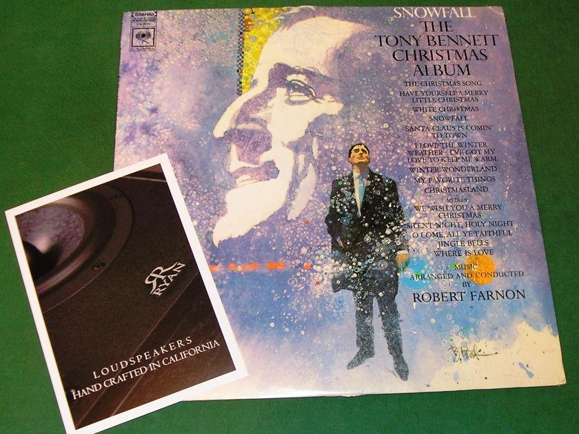 TONY BENNETT - SNOWFALL The Christmas Album - * 1968 COLUMBIA 1st PRESS - COLUMBIA 6c LABEL * NM 9/10