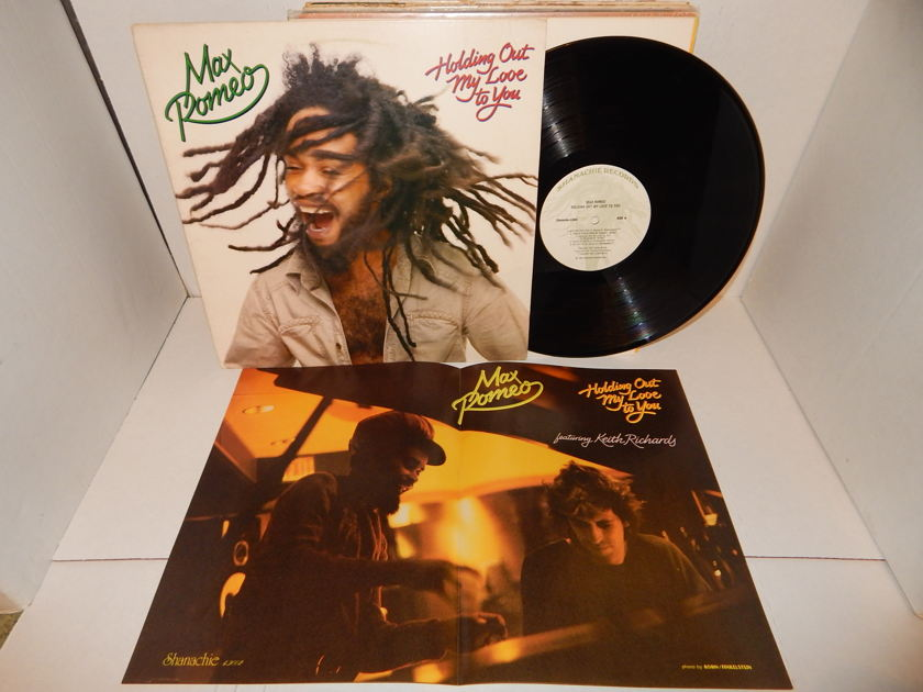 MAX ROMEO Holding Out My Love To You  - Keith Richards Stones & Poster Reggae Shanachie LP