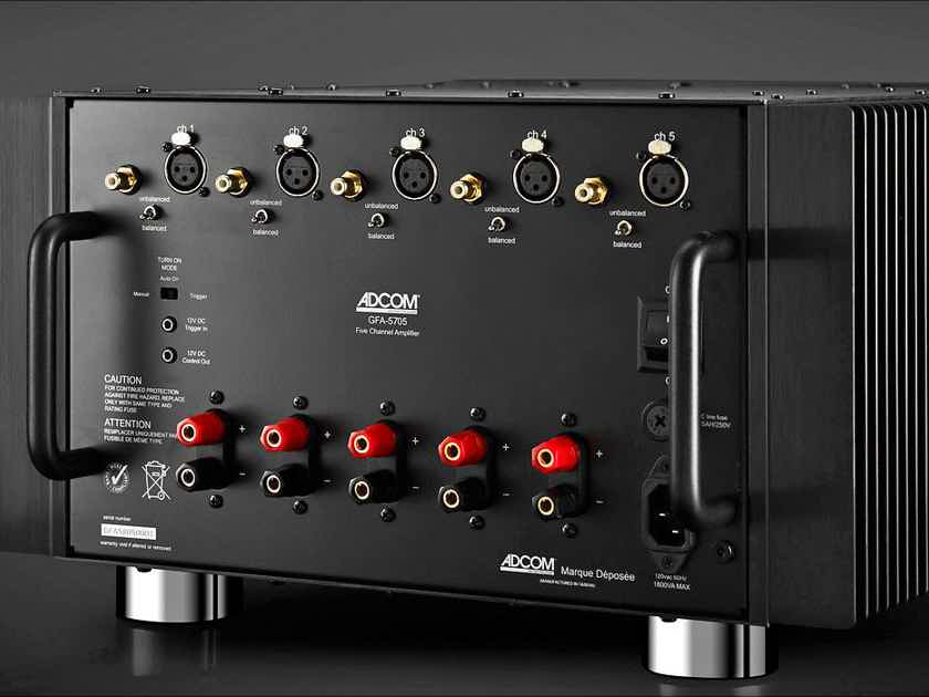 NEW! ADCOM GFA-5705 - CLASS A/B 200 Watts Per Channel x 5 Balanced Amplifier Deal!