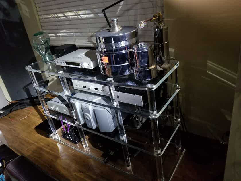 Large Custom Equipment Shelf / Rack - Clear Acrylic -- (Seattle pickup)