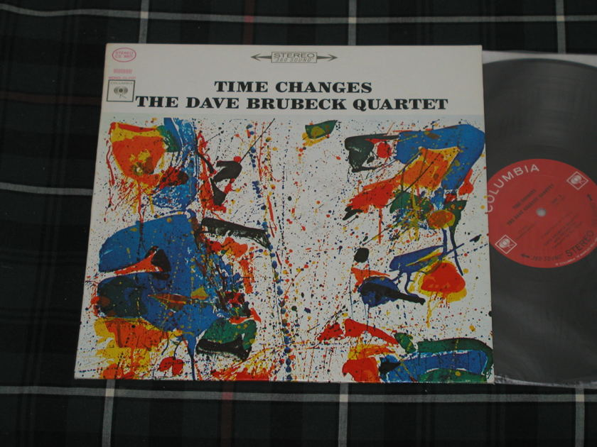 "The Dave Brubeck Quartet w/Paul Desmond - ""Time Changes"" Columbia CS 8927 STEREO   First labels (Black print w/Arrows) from 1964"