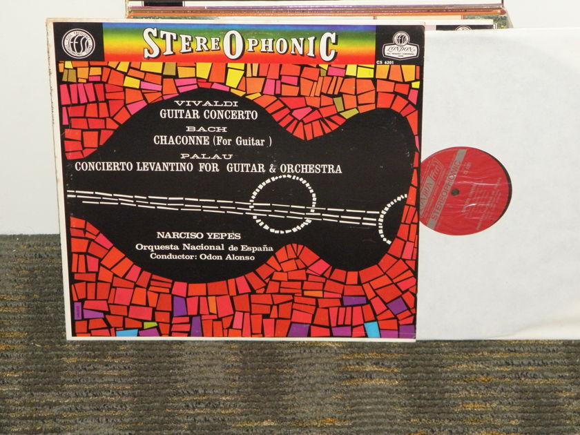 "Alonso/Yepes/Orquestra Nacional de Espana - Vivaldi ""Guitar Cto.""/Bach ""Chaconne"" London CS 6201 UK Decca 6W/4W matrix"