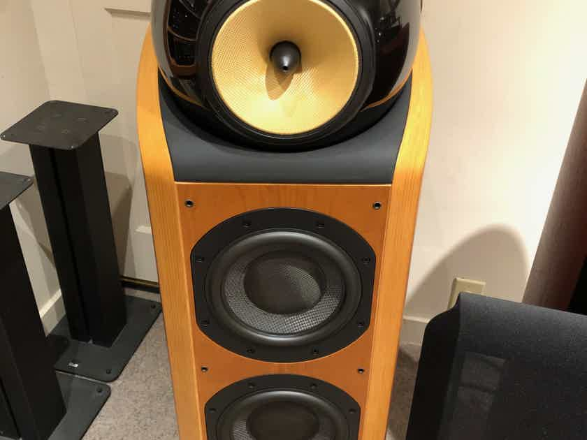 B&W (Bowers & Wilkins) 802D cherry finish, excellent condition