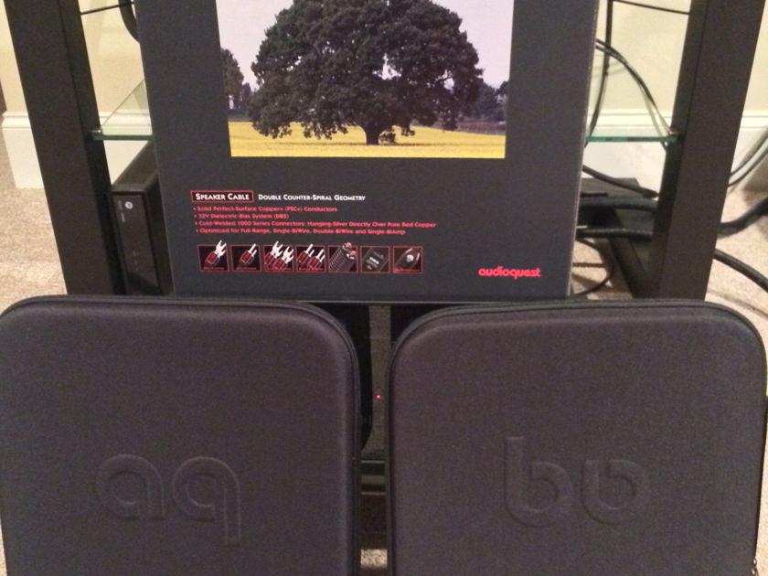 AudioQuest Oak 9' pair Bi-Wire Cables Audioquest Oak Speaker Cables