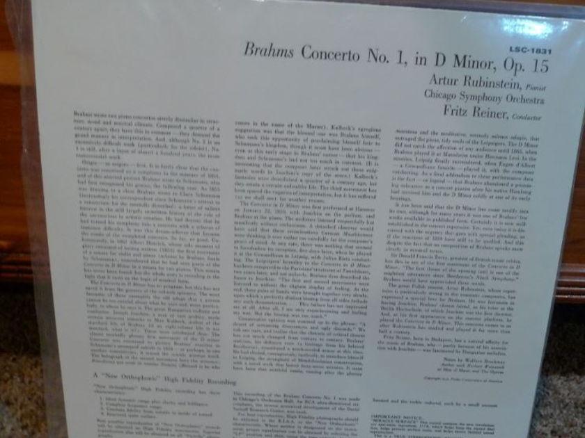 Chicago Symphony (Reiner) - Brahms Concerto #1 lsc1831 Classic Records original reissue 180G 1990's Sealed