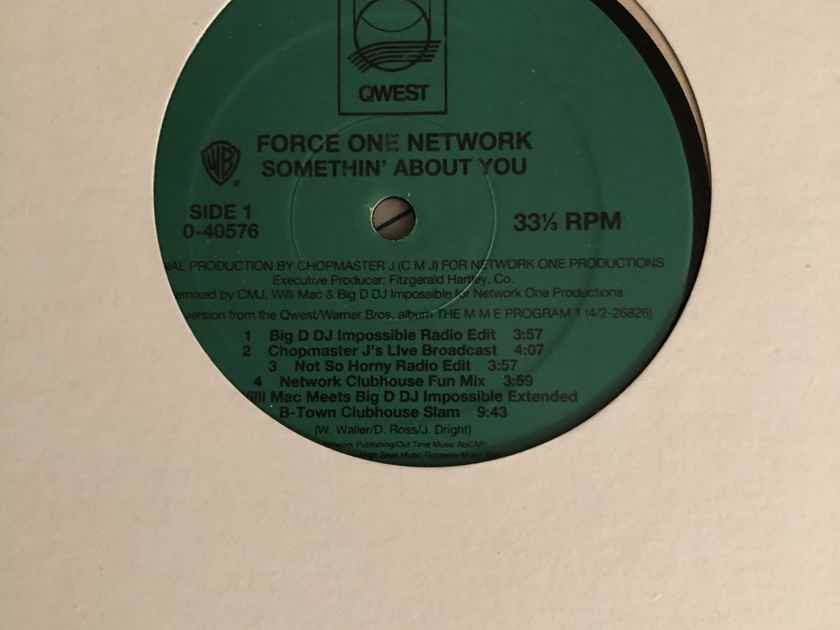 Force One Network  Somethin' Bout You QWest Records Promo 12 Inch