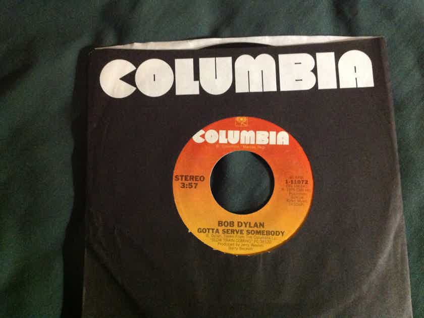 Bob Dylan - Gotta Serve Somebody/ Trouble In Mind Columbia Records 45 Single Vinyl NM