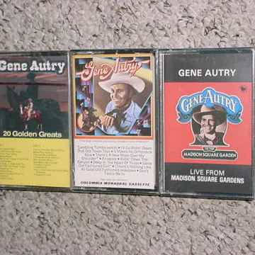 SEALED NEW Gene Autry  lot of 3 cassette audio tapes