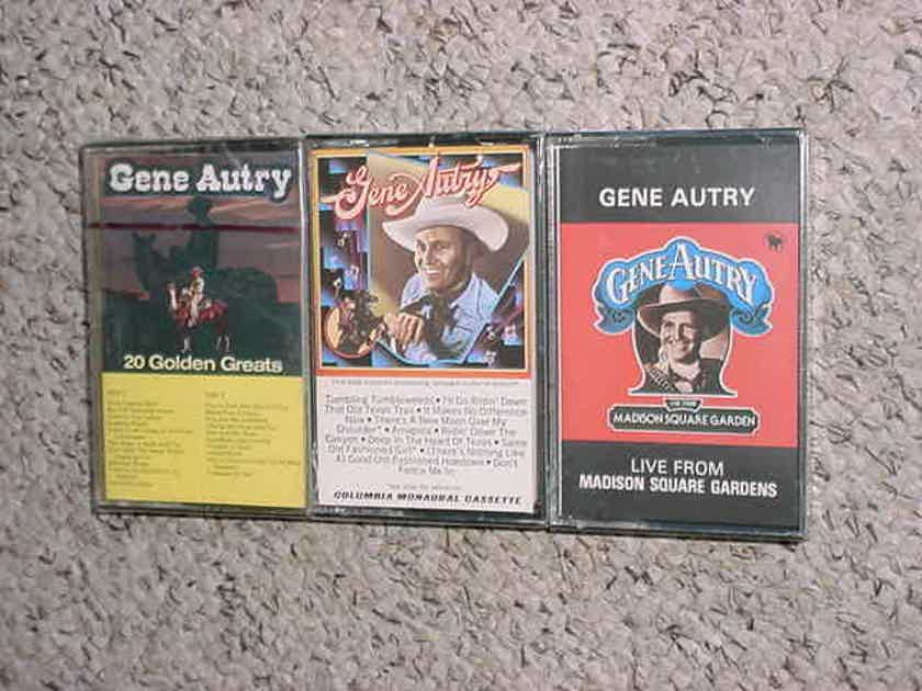 SEALED NEW Gene Autry  - lot of 3 cassette audio tapes