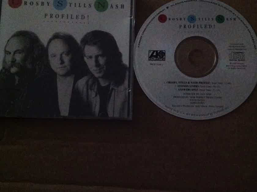 Crosby,Stills & Nash - Profiled  Compact Disc  NM Promo Atlantic Records