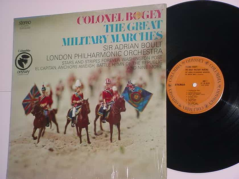 Colonel Bogey Sir Adrian Boult lp record The Great Military Marches
