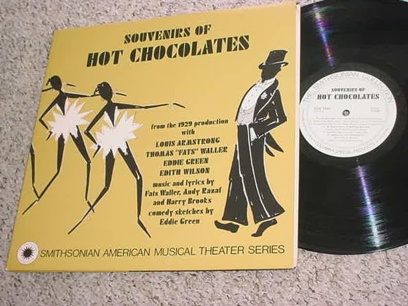 SOUVENIRS OF HOT CHOCOLATES - LP Record Smithsonian American Musical theatre Louis Armstrong Fats Waller Eddie Green