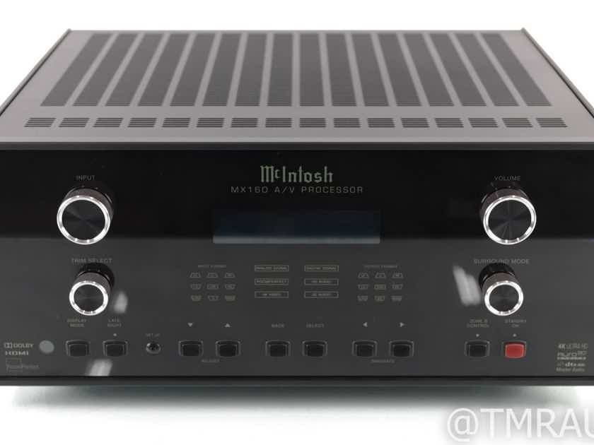 McIntosh MX160 11.1 Channel Home Theater Processor; 4K UHD; Dolby Atmos; Auro 3D (21897)