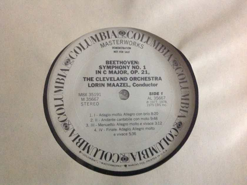 Beethoven  - The Complete Symphonies  Columbia Records White Label Promo Vinyl NM
