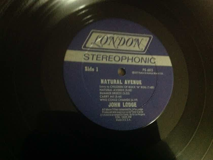 John Lodge - Natural Avenue London Records Promo LP Vinyl NM