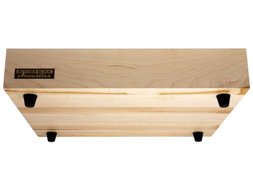 "Butcher Block Acoustics 18"" X 15"" X 3"" Maple Edge-Grain Audio Platform With ISO-FEET by BBA"