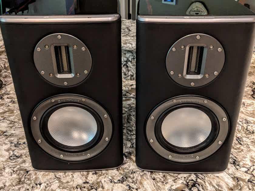 REDUCED: Monitor Audio Platinum PL100 Bookshelf Speakers in Ebony (Piano) Black