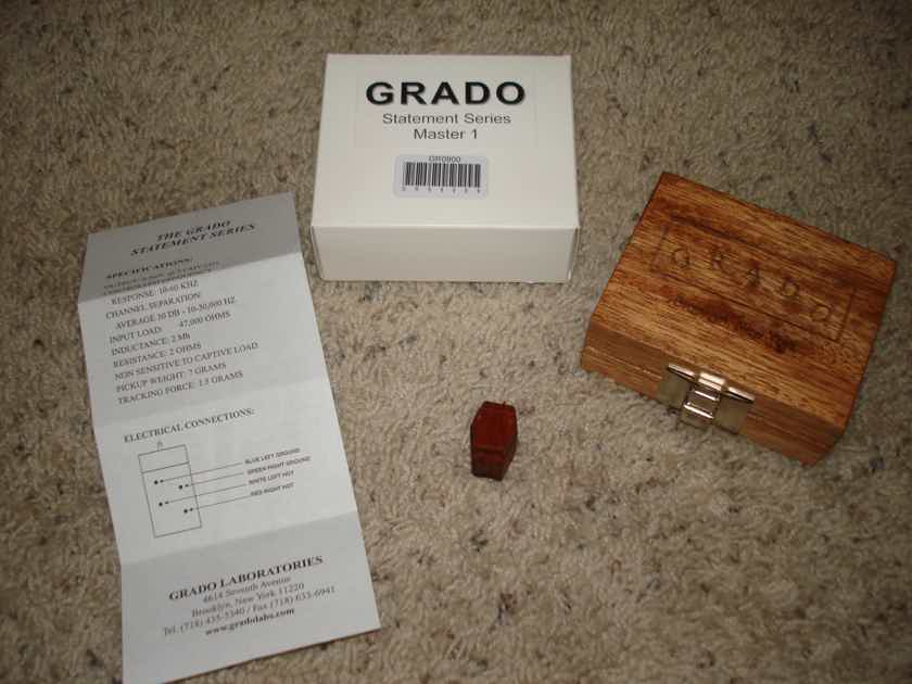 GRADO LABS Statement Master low output phono cartridge NEVER MOUNTED -- Price Reduced