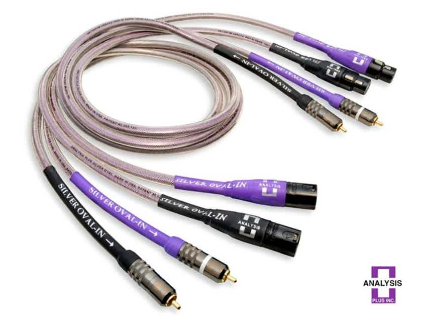 Analysis Plus Silver Oval Interconnect, 2.5 Meters, XLR Termination