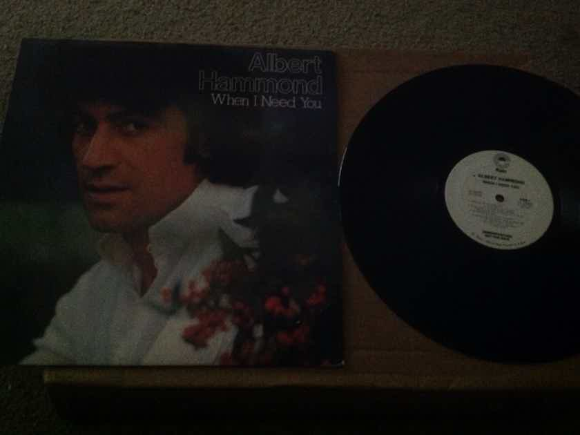Albert Hammond - When I Need You Epic Records White Label Promo Vinyl   LP NM