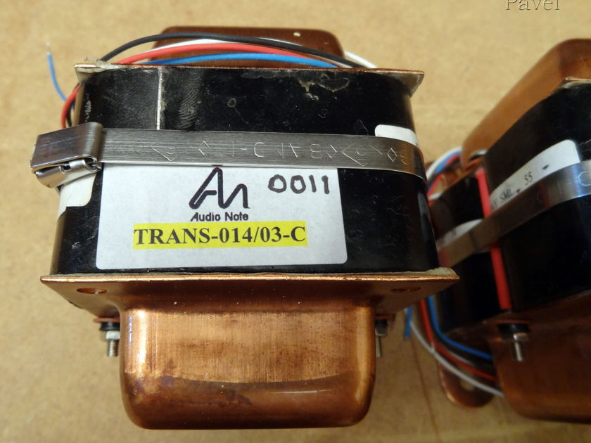 Audio Note  Interstage Transformers TRANS-014/03-C  SILVER Top Of The Line