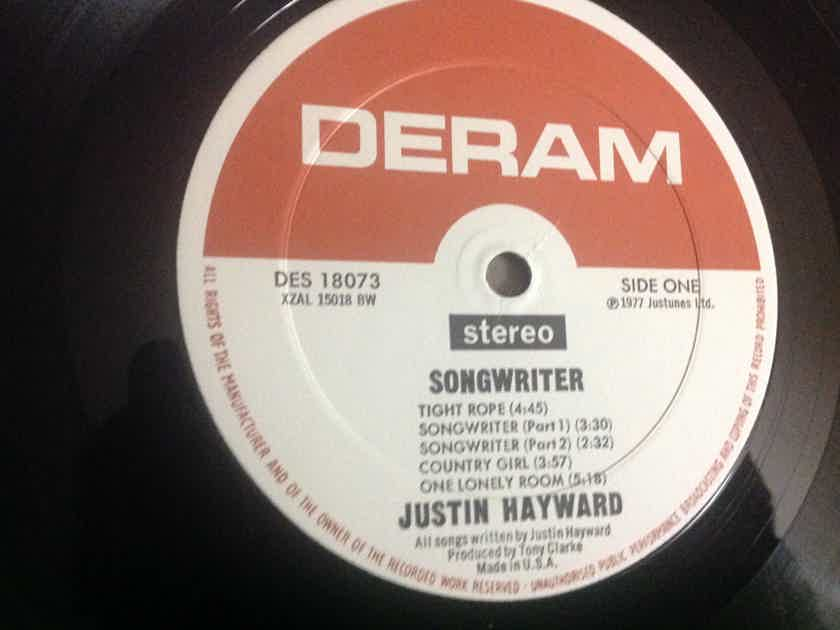 Justin Hayward - Songwriter Deram Records Promo LP Vinyl NM