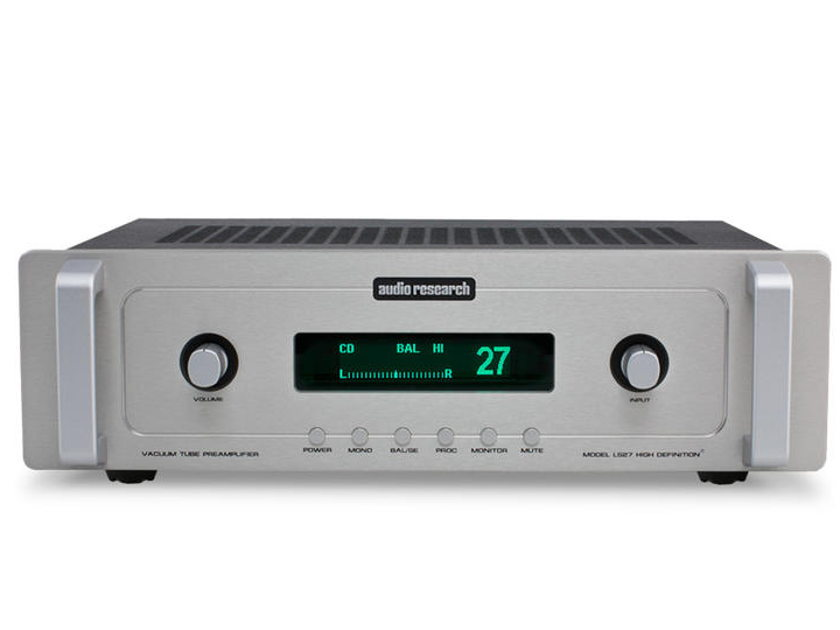Audio Research LS-27 Linestage, Silver finish. New in box, 3 year factory warranty.