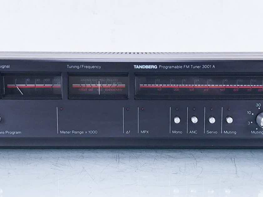 Tandberg 3001A Stereo FM Tuner 3001-A; AS-IS (Preset Buttons/Tuning) (14861)