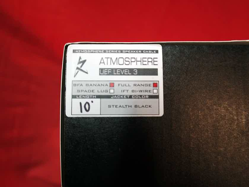 Synergistic Research Atmosphere UEF Level 3 Speaker Cables  10 feet - trade-in in excellent condition