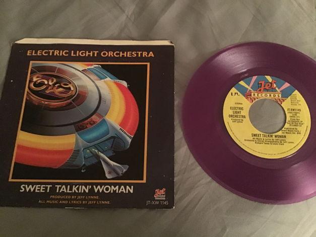 ELO Purple Vinyl 45 With Picture Sleeve Vinyl NM