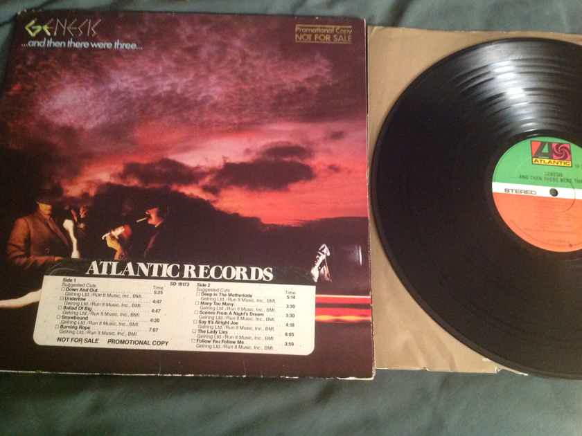 Genesis ...And Then There Were Three Atlantic Records Promo LP