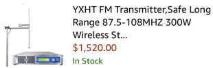 300 watt FM radio transmitter