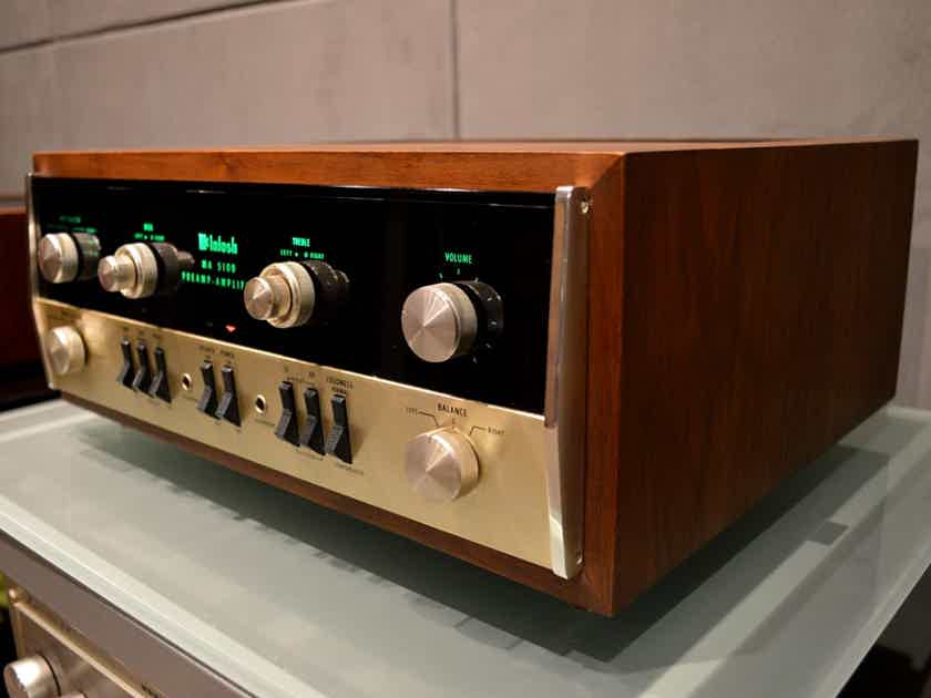 McIntosh MA-5100 Audiophile Integrated Amplifier w/ Wood Cabinet - Vintage