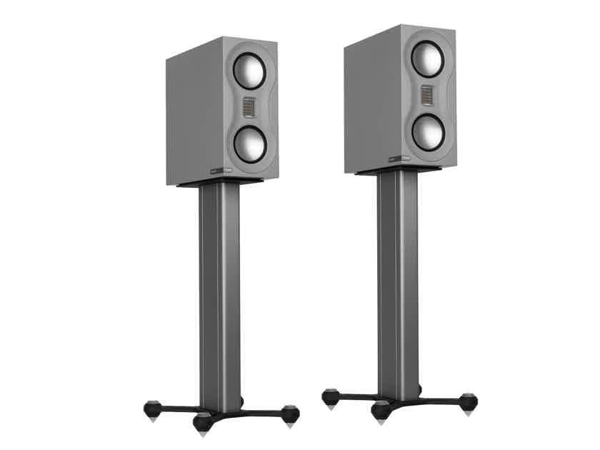 MONITOR AUDIO Studio Bookshelf Speakers & Stand Combo (Grey/Black): Excellent Trade-In; 1 Yr. PCX Warranty; 40% Off