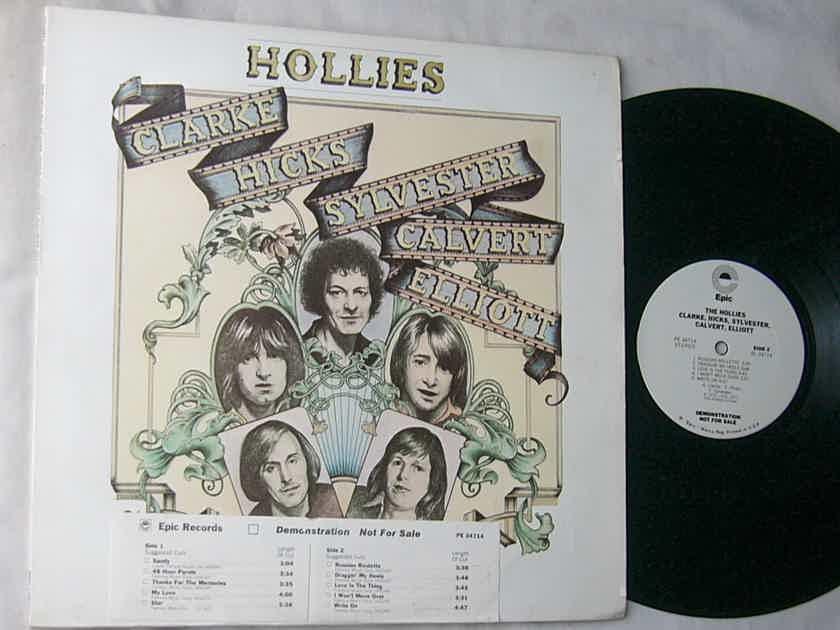 HOLLIES LP--feat - Draggin' My Heels-- rare 1977 WHITE LABEL PROMO album-Epic