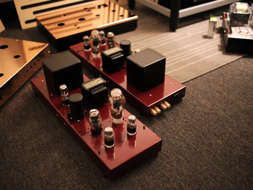 TRIODE LABS 2A3GT-FFX Mono Blocks (Red Wine Finished)