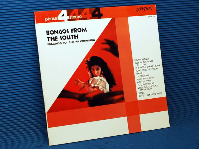 """EDMUNDO ROSS & ORCHESTRA   - """"Bongos From the South"""" -  London Phase 4 Stereo 1961"""