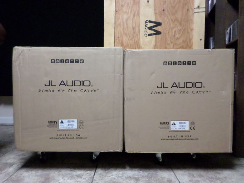 JL Audio e112 subwoofers NEW in factory sealed  boxes, Gloss Black , FREE shipping